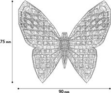 Glammor Butterfly sizes
